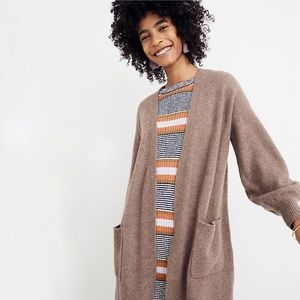 Madewell Edgewater Bubble Sleeve Cardigan M NWT